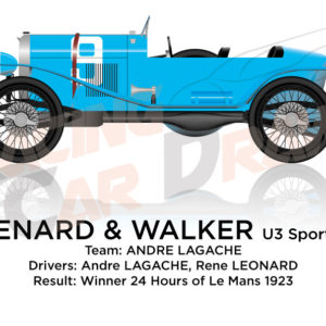 Chenard Walcker Sport n.9 winner 24 Hours of Le Mans 1923