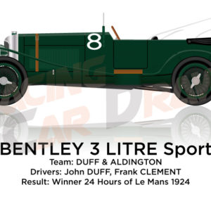 Bentley 3 LItre n.8 Winner 24 Hours of Le Mans 1924