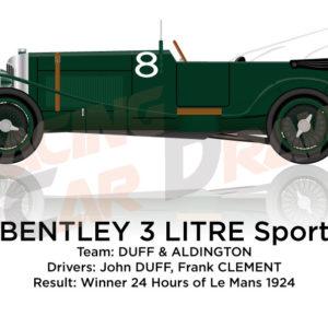 Bentley 3 LItre n.8 Winner 24 Hours of Le Mans 1924