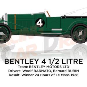 Bentley 4 1/2 Litre n.4 winner 24 Hours of Le Mans 1928