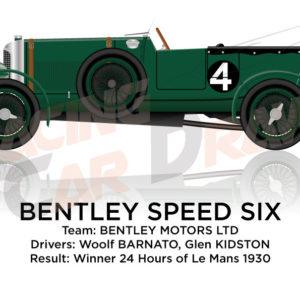 Bentley Speed Six n.4 winner 24 Hours of Le Mans 1930