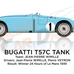 Bugatti T57C Tank n.1 winner 24 Hours of Le Mans 1939