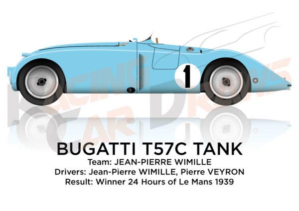 Bugatti T57C Tank n.1 winner 24 Hours of Le Mans 1939
