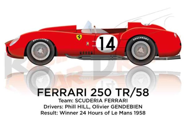 Ferrari 250 TR/58 n.14 winner 24 Hours of Le Mans 1958