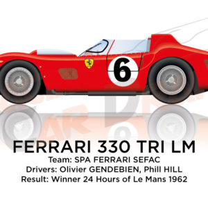 Ferrari 330 TRI/LM n.6 winner 24 Hours of Le Mans 1962