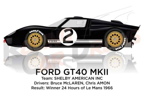 Ford GT40 MK II n.2 winner 24 Hours of Le Mans 1966