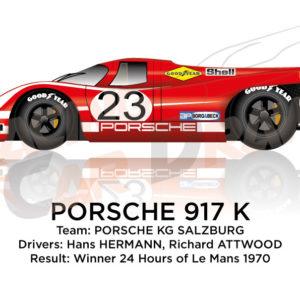 Porsche 917 K n.23 winner 24 Hours of the Le Mans 1970