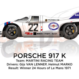 Porsche 917 K n.22 winner 24 Hours of Le Mans 1971