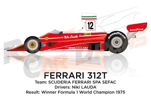 Ferrari 312T n.12 winner Formula 1 World Champion 1975