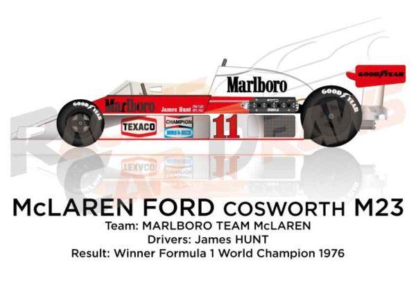 McLaren - Ford Cosworth M23 n.11 winner F1 World Champion 1976