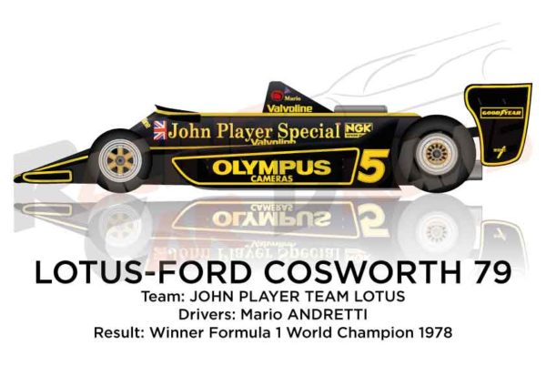 Lotus - Ford Cosworth 79 n.5 Winner Formula 1 World Champion 1978