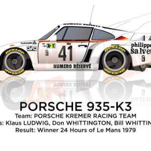 Porsche 935-K3 n.41 winner 24 Hours of Le Mans 1979