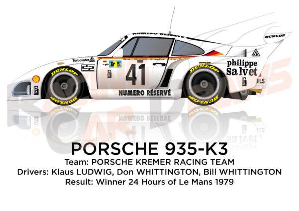 Porsche 935-K3 n.41 winner 24 Hours of Le Mans 1979