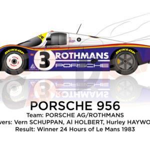 Porsche 956 n.3 winner 24 Hours of Le Mans 1983