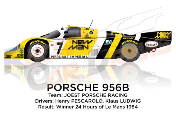 Porsche 956B n.7 winner 24 Hours of Le Mans 1984