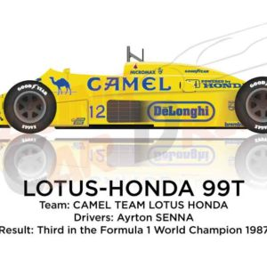 Lotus - Honda 99T n.12 third Formula 1 World Champion with Senna