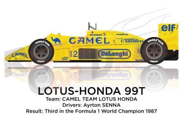 Lotus - Honda 99T n.12 third Formula 1 World Champion with Senna