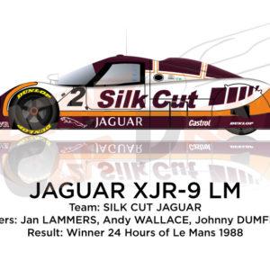 Jaguar XJR-9 LM n.2 winner 24 Hours of Le Mans 1988