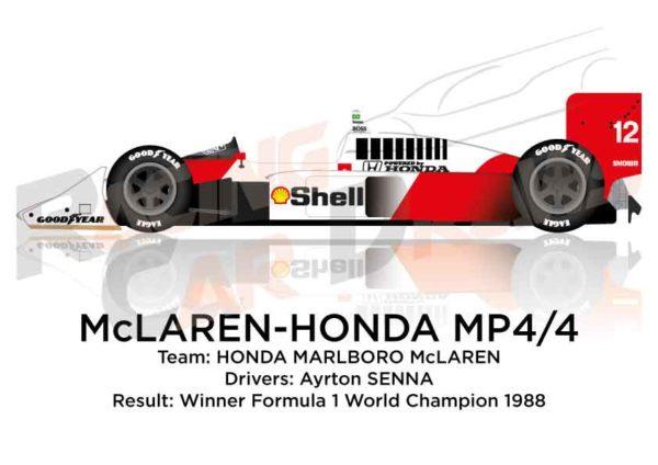 McLaren - Honda MP4/4 n.12 winner Formula 1 World Champion 1988