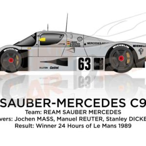 Sauber - Mercedes-Benz C9 n.63 winner 24 Hours of Le Mans 1989