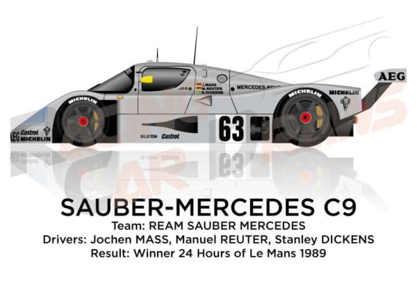 Sauber - Mercedes-Benz C9 n.63 winner 24 Hours of Le Mans 1989