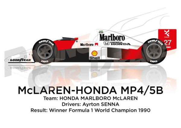 McLaren - Honda MP4/5B winner Formula 1 World Champion 1990