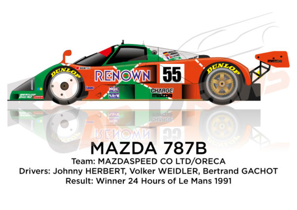 Mazda 787B n.55 Winner 24 Hours of Le Mans 1991