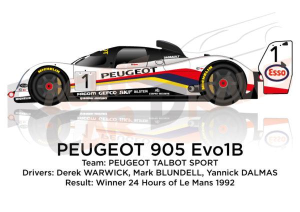Peugeot 905 Evo1B n.1 Winner 24 Hours of Le Mans 1992