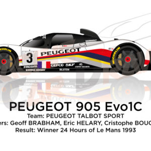 Peugeot 905 Evo1C n.3 Winner 24 Hours of Le Mans 1993