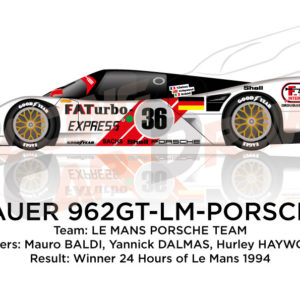 Porsche Dauer 962 GT LM n.36 winner 24 Hours of Le Mans 1994