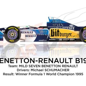 Benetton - Renault B195 n.1 winner the Formula 1 World Champion 1995