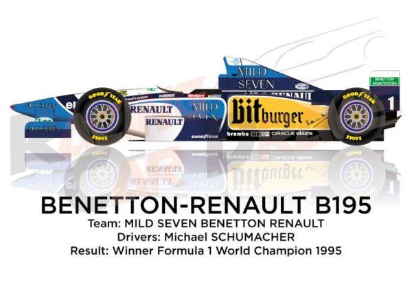 Benetton - Renault B195 n.1 winner the Formula 1 World Champion 1995