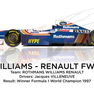 Image Williams - Renault FW19 n.3 winner Formula 1 World Champion 1997