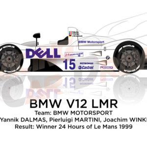 BMW V12 LMR n.15 Winner 24 Hours of Le Mans 1999