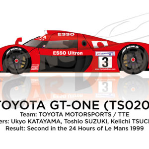 Toyota Gt-one TS020 n.3 second at the 24 Hours of Le Mans 2003