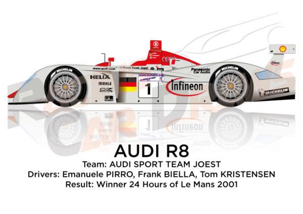 Audi R8 n.1 winner the 24 Hours of Le Mans 2001