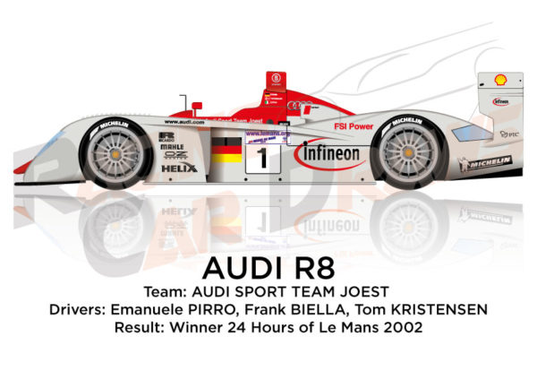 Audi R8 n.1 winner in the 24 Hours of Le Mans 2002