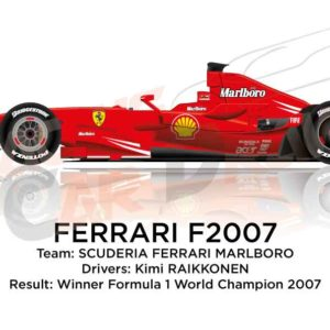 Ferrari F2007 n.6 winner Formula 1 World Champion 2007
