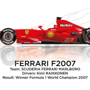 Ferrari F2007 n.6 winner Formula 1 World Champion 2007
