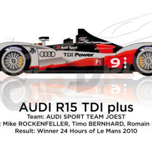 Audi R15 TDI Plus n.9 Winner 24 Hours of Le Mans 2010