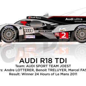 Audi R18 TDI n.2 winner 24 Hours of Le Mans 2011