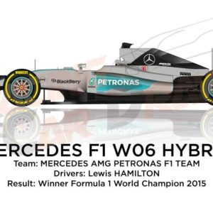 Mercedes F1 W06 Hybrid n.44 winner Formula 1 World Champion 2015