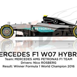 Mercedes F1 W07 Hybrid n.6 winner Formula 1 World Champion 2016