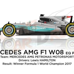 Mercedes F1 W08 EQ Power+ n.44 winner Formula 1 World Champion 2017