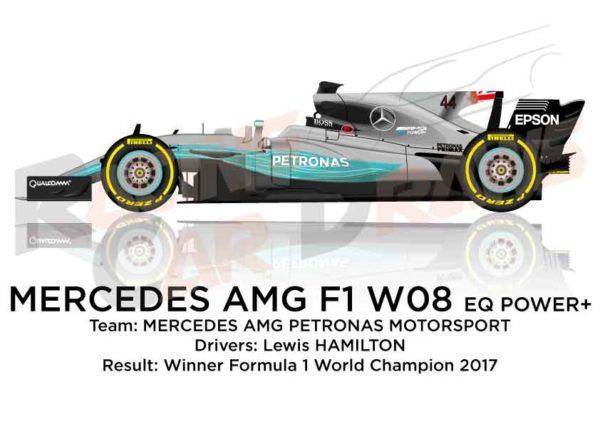 Mercedes F1 W08 EQ Power+ n.44 winner Formula 1 World Champion 2017