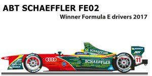 ABT Schaeffler FE02 n.11 winner Formula E World Champion with Lucas Di Grassi