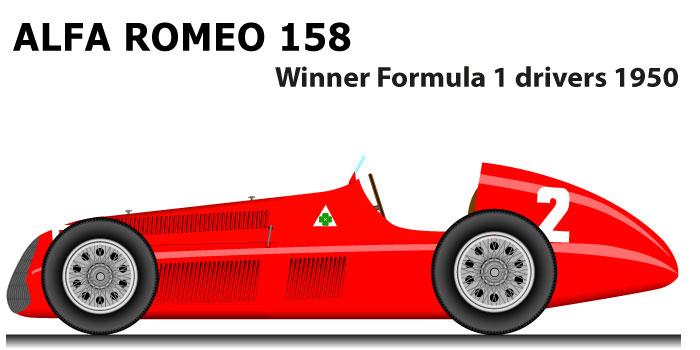 Alfa Romeo 158 Formula 1 World Champion 1950 with Giuseppe Farina