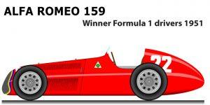 Alfa Romeo 159 Formula 1 Champion 1951 with Juan Manuel Fangio