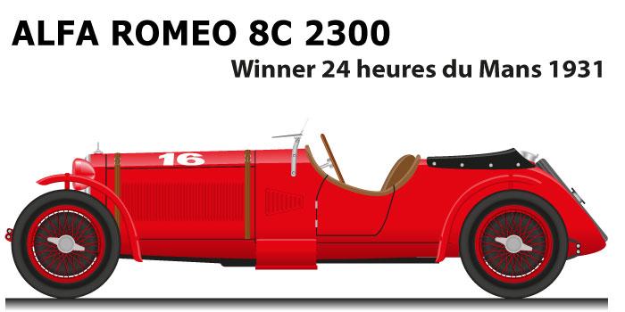 Alfa Romeo 8C 2300 n.16 winner 24 Hours of Le Mans 1931