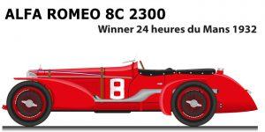 Alfa Romeo 8C 2300 n.8 winner 24 Hours of Le Mans 1932